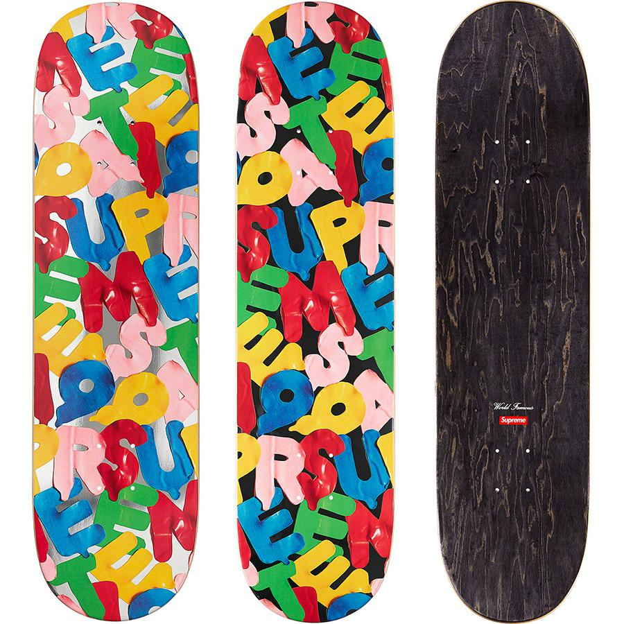 Balloons Skateboard - Supreme skate deck with natural veneer and black top ply. Printed logo on bottom with printed World Famous and box logo on top.