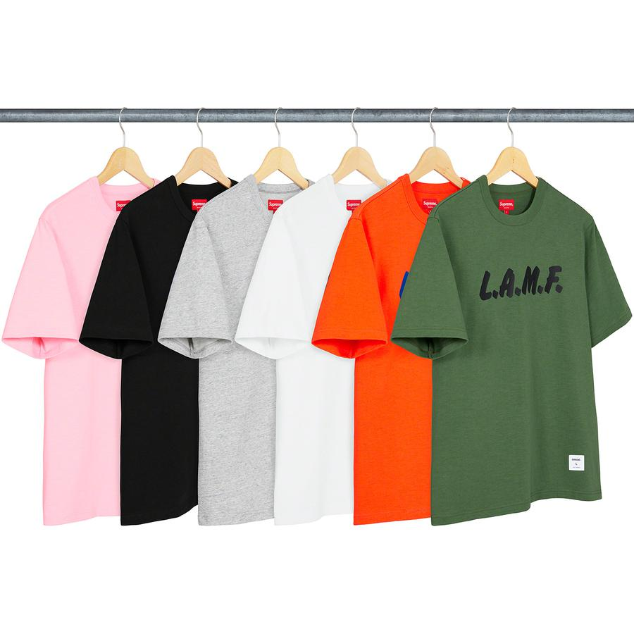 LAMF S/S Top - All cotton slub jersey crewneck with printed graphic on chest. Athletic label at lower front.