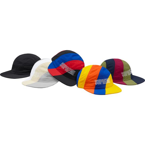 Diagonal Stripe Nylon Hat - All nylon hat with embroidered logo on front.