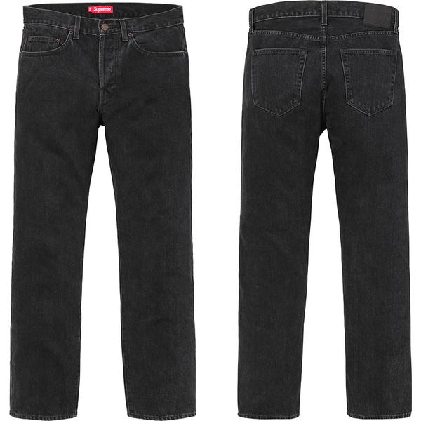 Stone Washed Black Slim Jeans - All cotton 14 oz. denim with stone wash. Classic 5-pocket style with black leather patch on back.