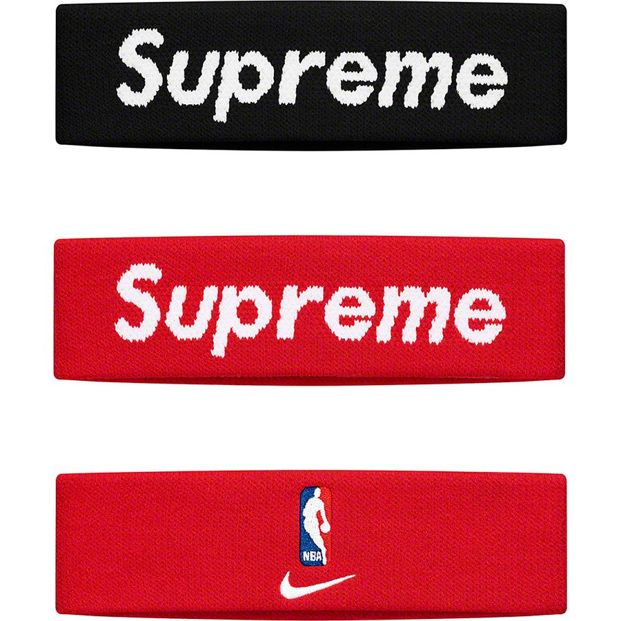 Supreme®/Nike®/NBA Headband - Dri-FIT® headband with jacquard logo on front and embroidered logos on back. Made exclusively for Supreme.