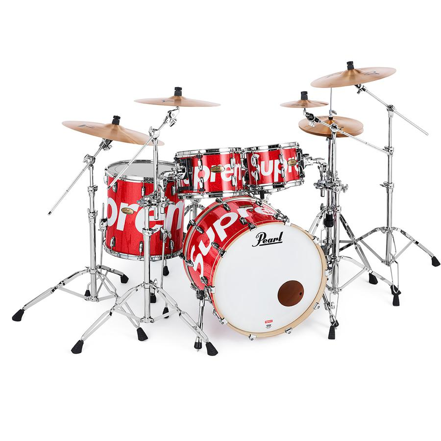 "Supreme®/Pearl® Session Studio Select Drum Set & Zildjian® Cymbals - Five-drum set. 22""x18"" Bass, 10""x7"" and 12""x8"" Toms, 16""x16"" Floor Tom and 14"" x 5.5"" Snare with 6-Ply 5.4mm Birch/African Mahogany shells. Zildjian® Cymbals A Series Cymbal Pack included. 14"" New Beat HiHats (pair), 16"" Medium Thin Crash, 18"" Medium ..."