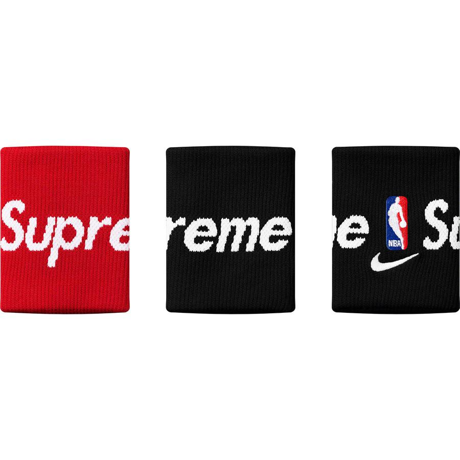 Supreme®/Nike®/NBA Wristbands - Dri-FIT® wristbands with jacquard logo and embroidered logos. Made exclusively for Supreme.