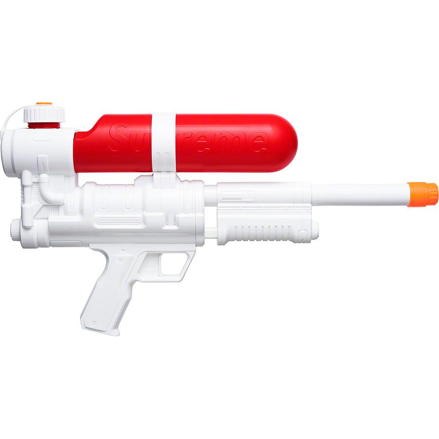 "Supreme®/Super Soaker 50 Water Blaster™ - Plastic Water Blaster™ with 25-ounce capacity and 35-foot range. Molded logo on tank and printed logo on chamber. 3.4"" x 19.8"" x 10.2"". Made exclusively for Supreme."
