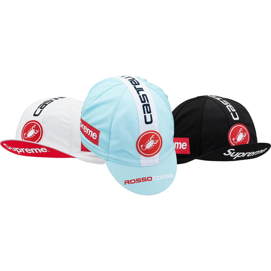 Supreme®/Castelli Cycling Cap - Poly cycling cap with printed logos on visor, crown, sides and back. Made exclusively for Supreme.