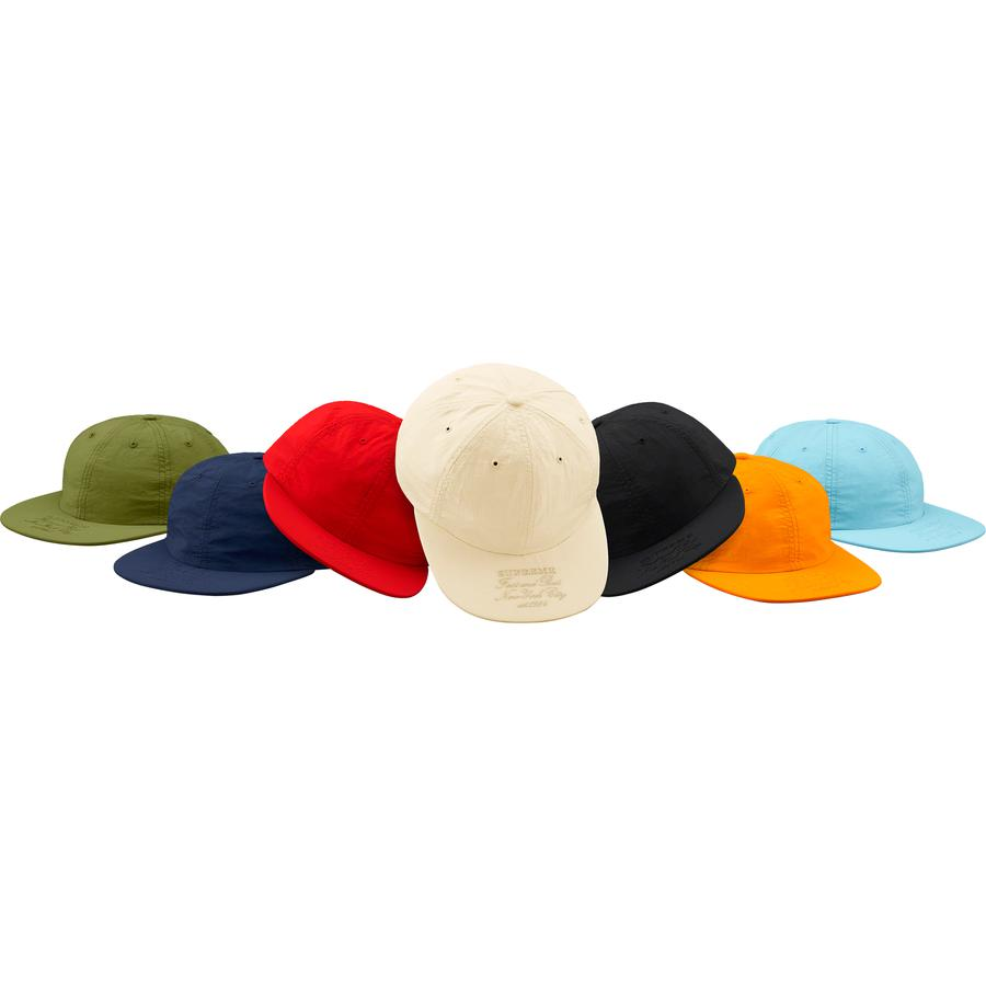 First And Best Nylon 6-Panel - Nylon 6-Panel hat with embroidered logos on visor and back.