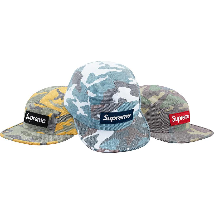 Washed Out Camo Camp Cap - All cotton Supreme camp cap.