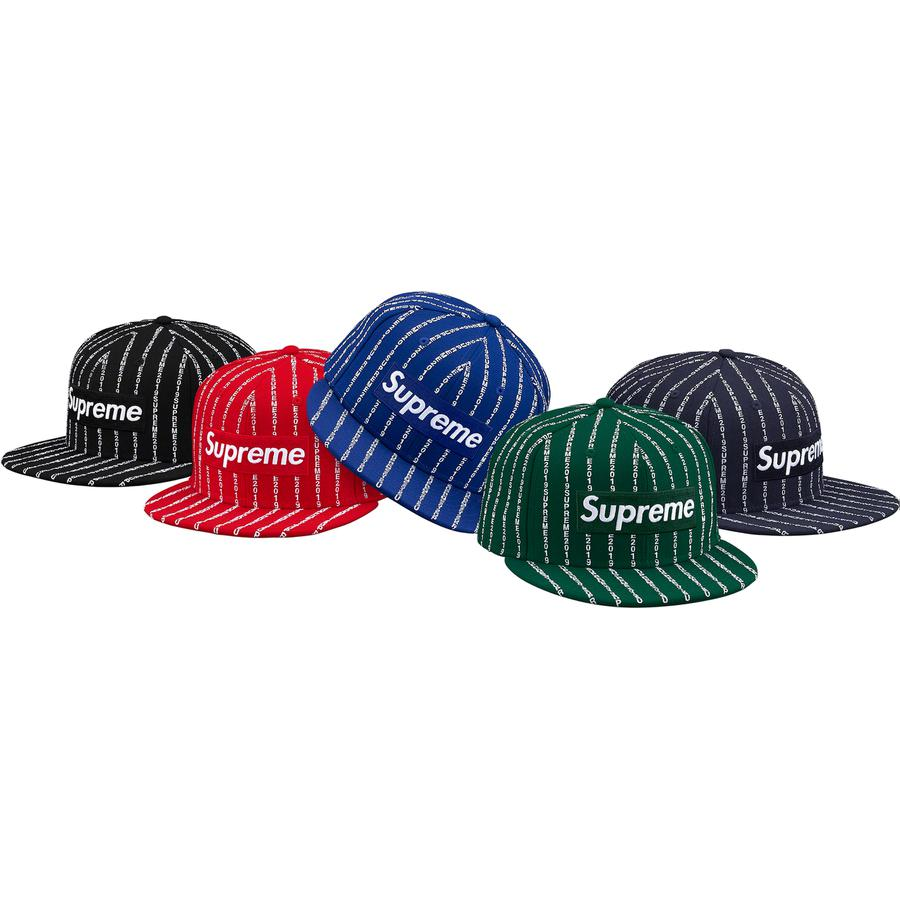 Text Stripe New Era® - All wool New Era® 59FIFTY baseball hat. Embroideries on front, side and back.