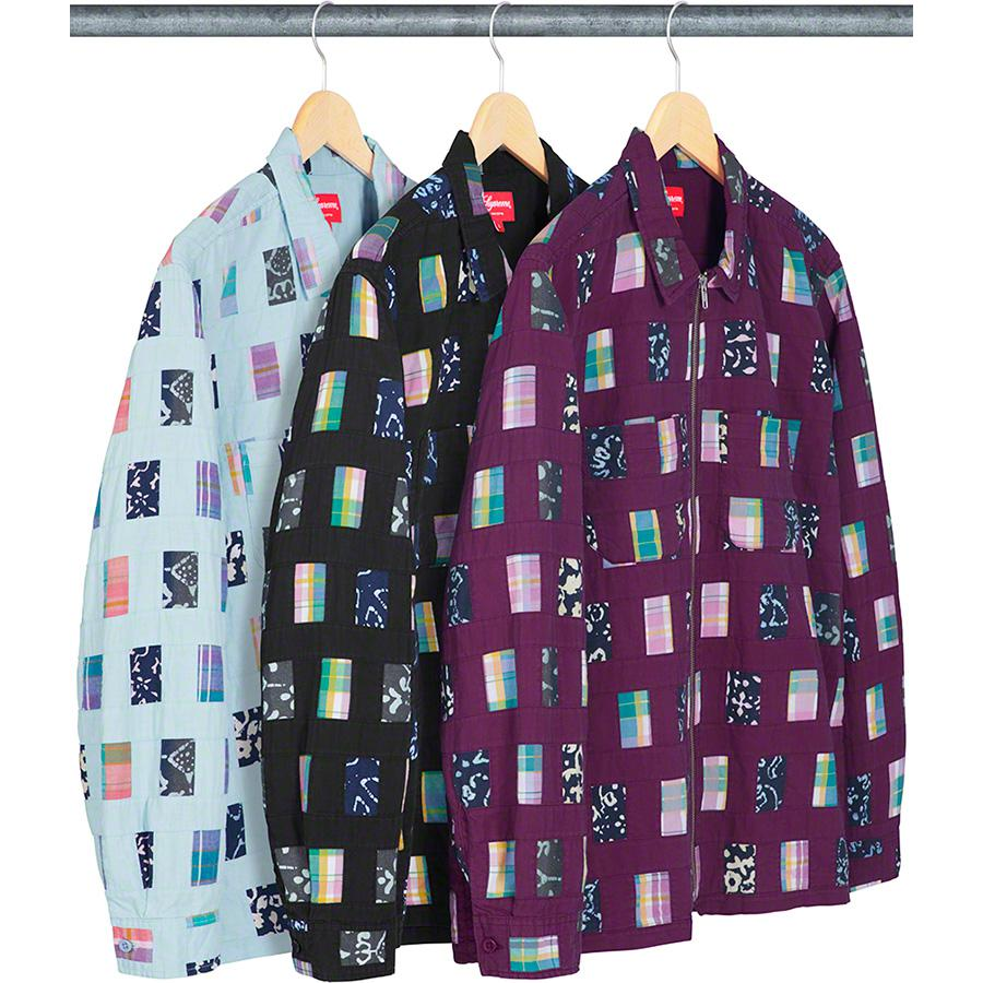 Patchwork Zip Up Shirt - All cotton with full zip closure and patch pockets at chest.