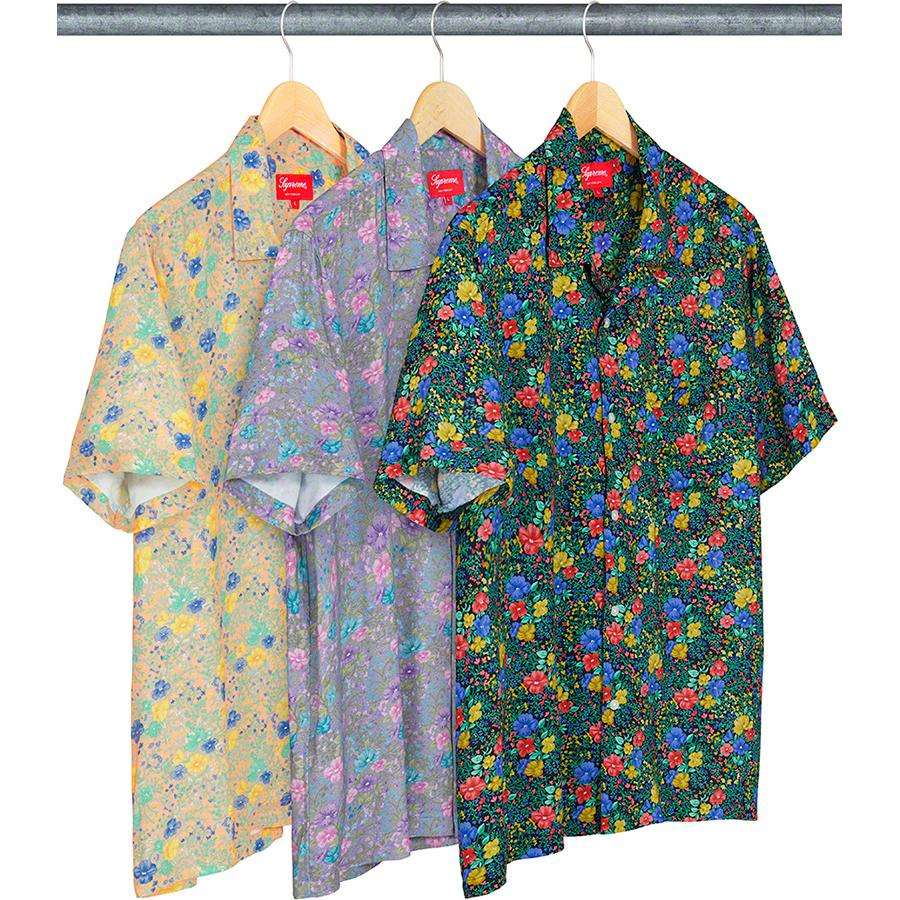 Mini Floral Rayon S/S Shirt - Rayon with printed pattern and single chest pocket.