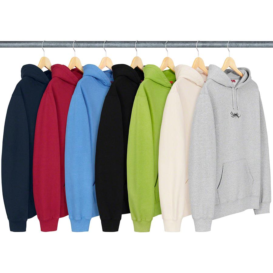 Tag Logo Hooded Sweatshirt - Cotton fleece with pouch pocket and embroidered logo on chest.