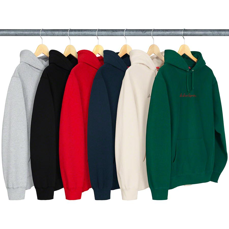 Le Luxe Hooded Sweatshirt - Cotton fleece with rib gussets, pouch pocket and embroidered logo on chest.