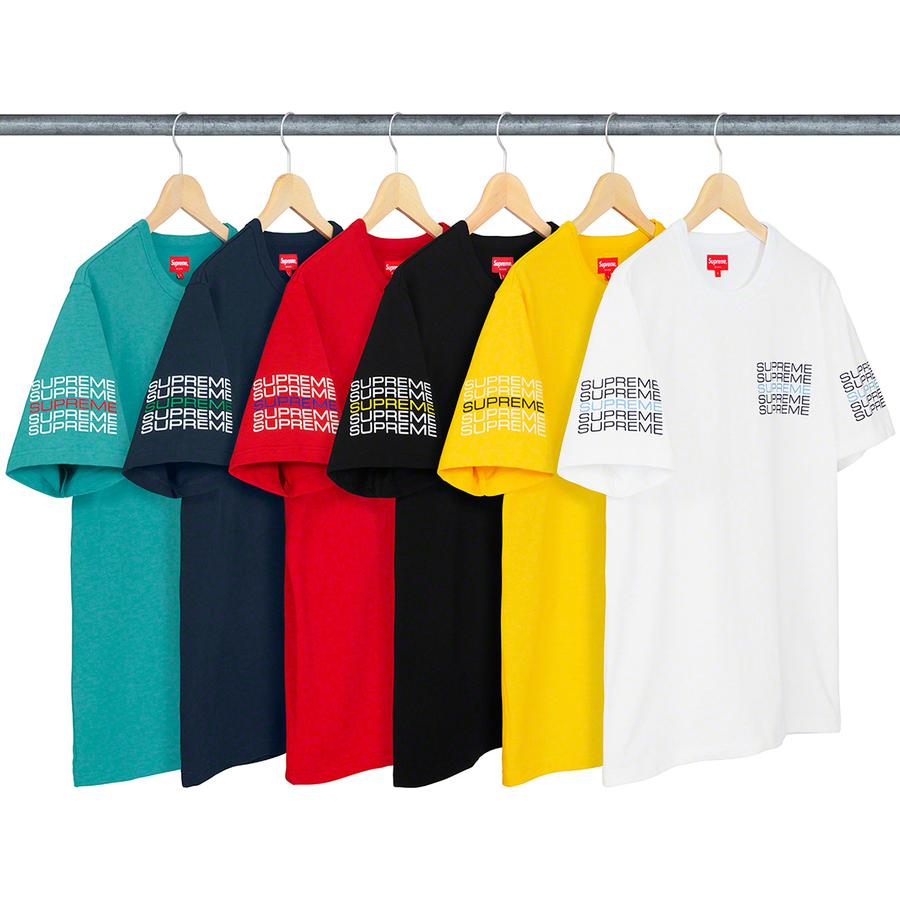 Stack Logo Tee - All cotton slub jersey crewneck with printed logos on chest and sleeves.