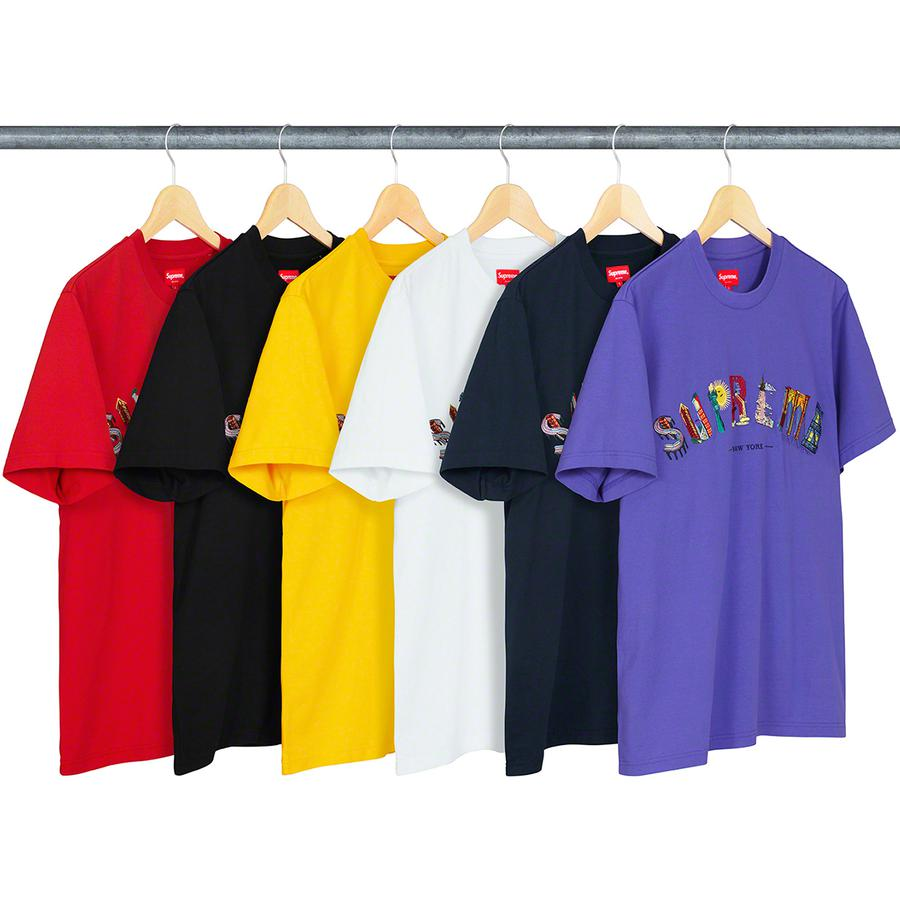 City Arc Tee - All cotton jersey crewneck with embroidered graphic on chest.