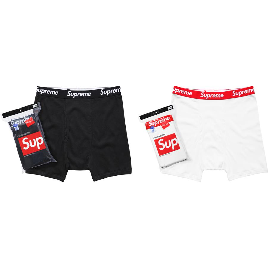 Supreme®/Hanes® Boxer Briefs (4 Pack) - All cotton classic Hanes® boxer brief.