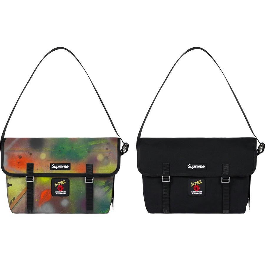 Supreme®/De Martini Messenger Bag - All cotton 18 oz. duck canvas with industrial vinyl lining. Main compartment with three interior pouch pockets. Top flap with hook and loop strap closures and velcro closure. Adjustable webbing shoulder strap. Woven logo label at top flap and embroide...