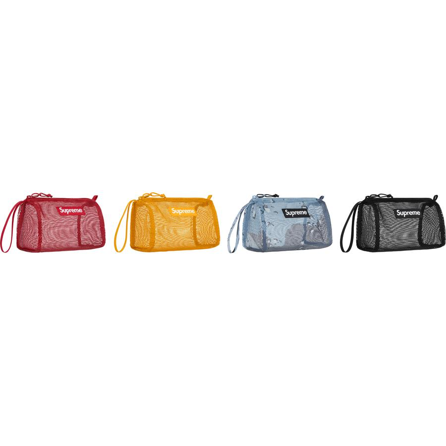 Utility Pouch - PVC-coated mesh with zip compartment and woven logo label at front. 2L.
