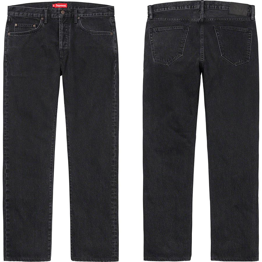 Stone Washed Black Slim Jean - All cotton 14 oz. denim with stone wash. Classic 5-pocket style with button fly, single coin pocket, copper oxide rivets and leather logo patch on back.