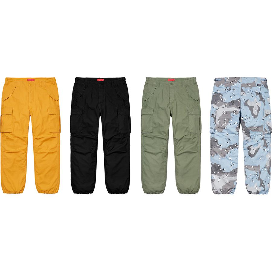 Cargo Pant - All cotton with enzyme wash. Slanted front pockets with snap flap closures, snap back pockets and snap cargo pockets on thigh. Button fly closure, twill tape size adjusters at waist and drawstring at cuffs.