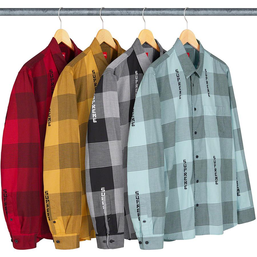 Logo Plaid Shirt - All cotton with jacquard logo pattern and single chest pocket.