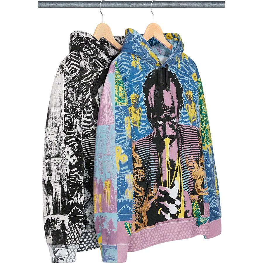 Miles Davis Hooded Sweatshirt - Cotton fleece with pouch pocket and printed graphic.