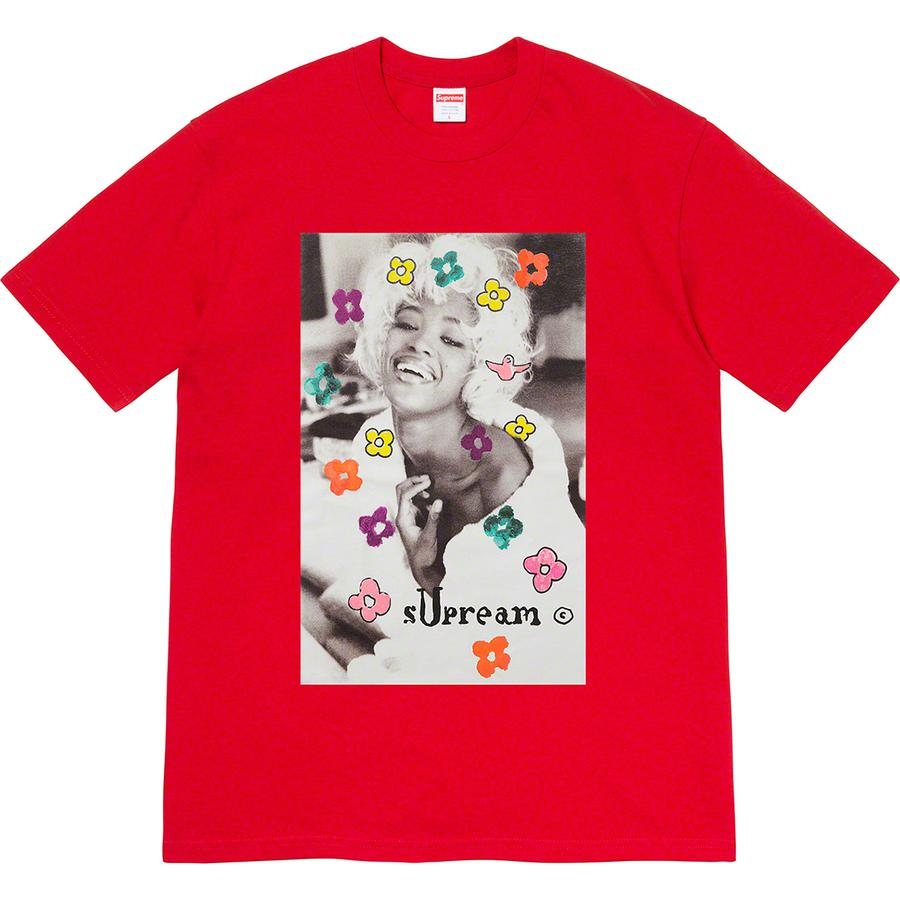 Naomi Tee - All cotton classic Supreme t-shirt with printed graphic on front. Original photography by Pamela Hanson. Original artwork by Mark Gonzales.