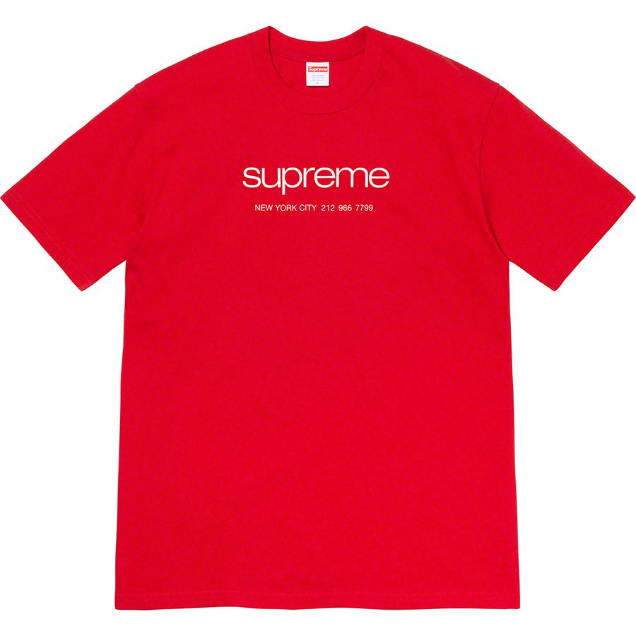 Shop Tee - All cotton classic Supreme t-shirt with printed logo on front.