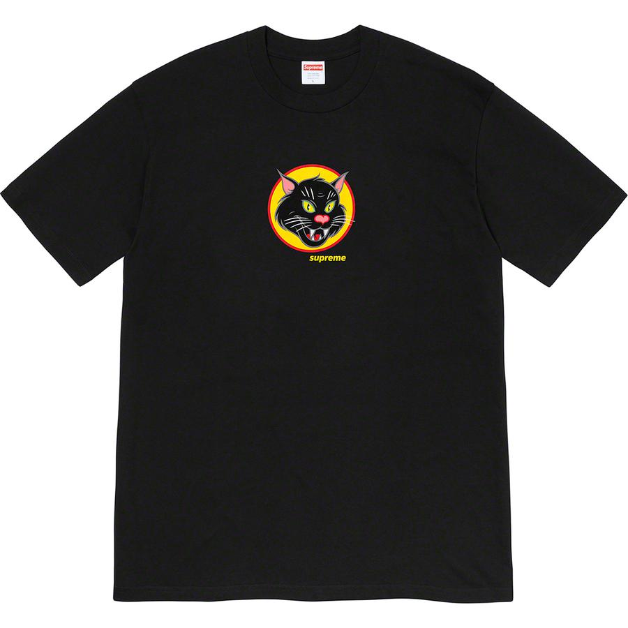 Black Cat Tee - All cotton classic Supreme t-shirt with printed graphic on front.
