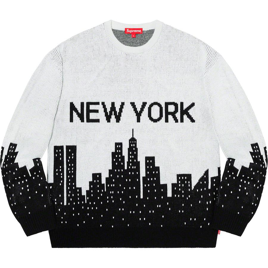 New York Sweater - Acrylic with knit graphic and logo at back.